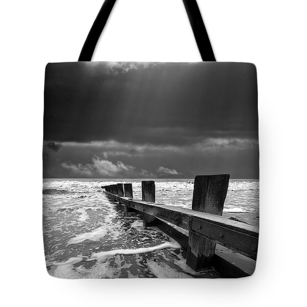 wave defenses Tote Bag by Meirion Matthias