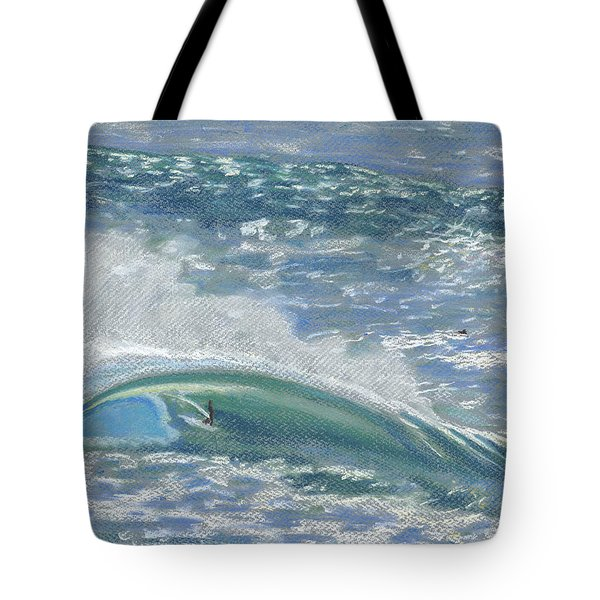 Waverider Tote Bag by Patti Bruce - Printscapes