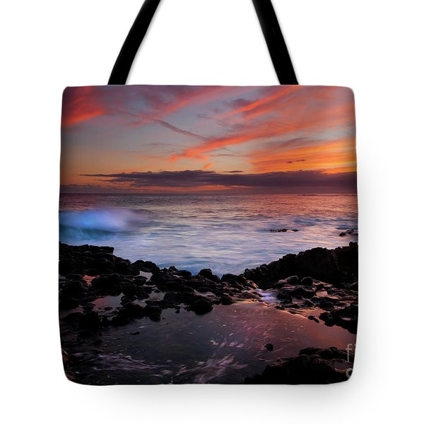 Waves Of Paradise Tote Bag by Mike  Dawson