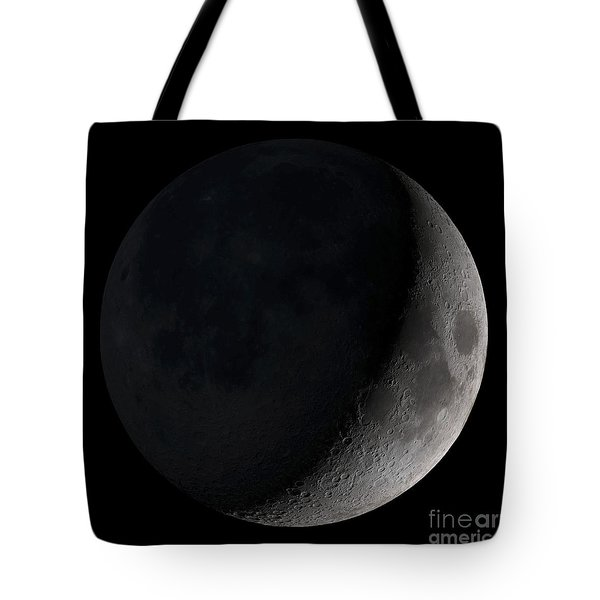 Waxing Crescent Moon Tote Bag by Stocktrek Images