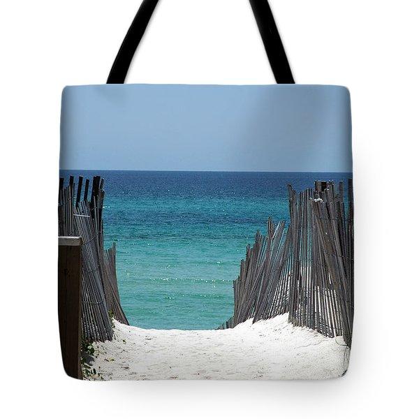 Way To The Beach Tote Bag by Susanne Van Hulst