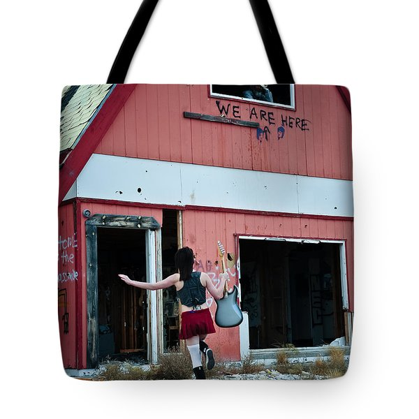 We Are Here Tote Bag by Scott Sawyer