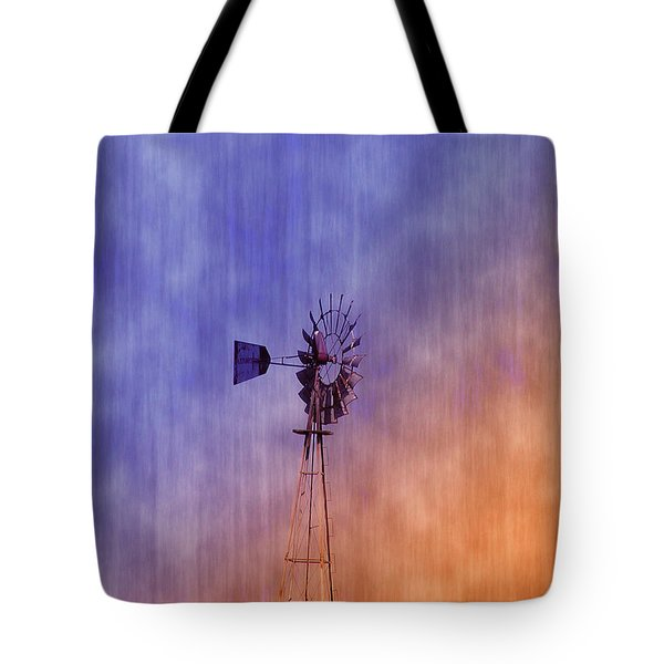 Weather Vane Sunset Tote Bag by Bill Cannon