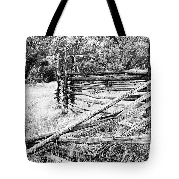 Weathered Fence Tote Bag by Larry Ricker