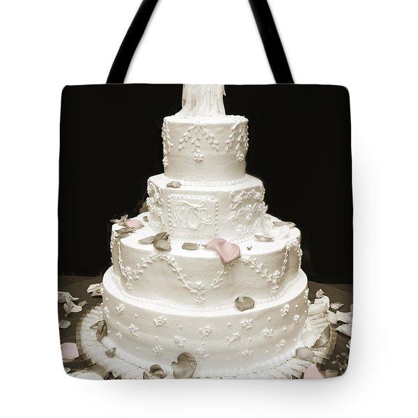 Wedding Cake Petals Tote Bag by Marilyn Hunt