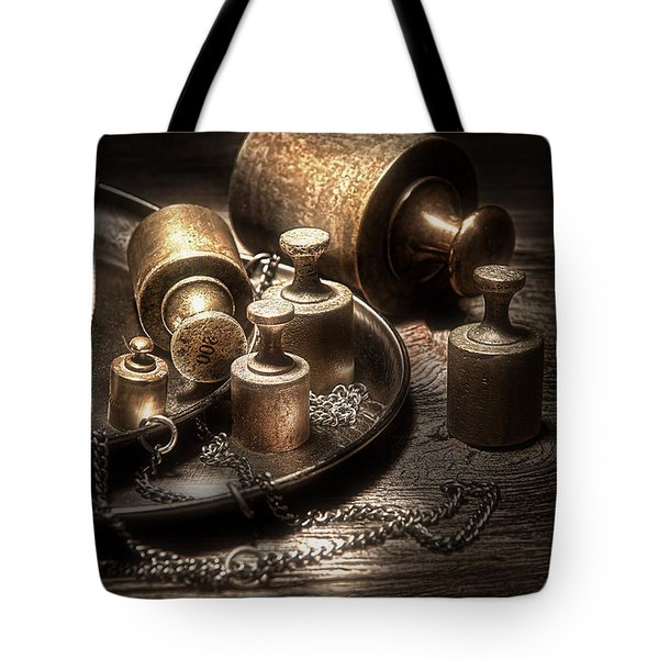 Weights And Measures Tote Bag by Tom Mc Nemar