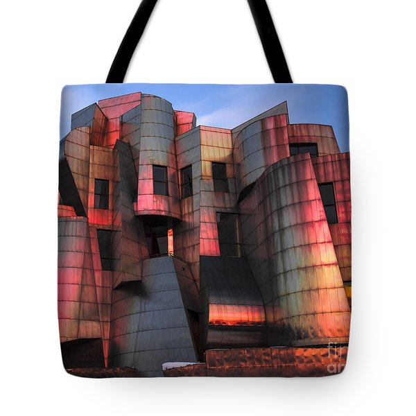 Weisman Art Museum At Sunset Tote Bag by Craig Hinton
