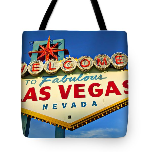 Welcome To Las Vegas Sign Tote Bag by Garry Gay