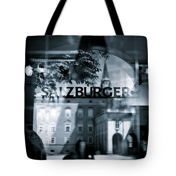 Welcome To Salzburg Tote Bag by Dave Bowman