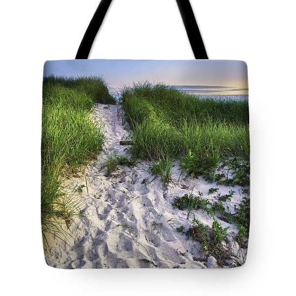 Wellfleet Beach Path Tote Bag by Tammy Wetzel