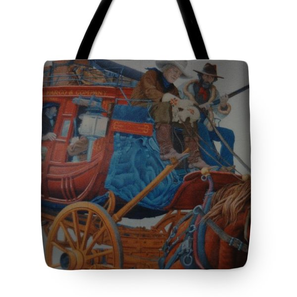 Wells Fargo Stagecoach Tote Bag by Rob Hans