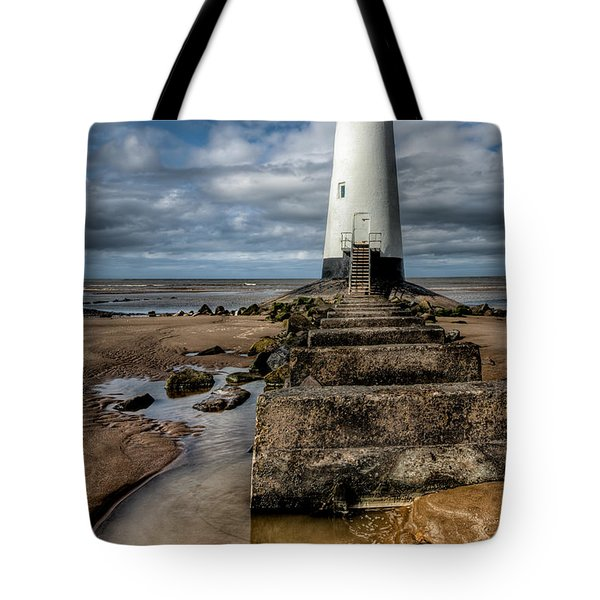Welsh Lighthouse  Tote Bag by Adrian Evans