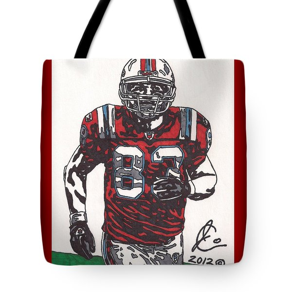 Wes Welker Tote Bag by Jeremiah Colley