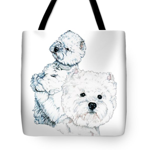 West Highland White Terriers Tote Bag by Kathleen Sepulveda
