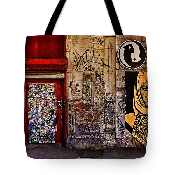 West Village Wall Nyc Tote Bag by Chris Lord