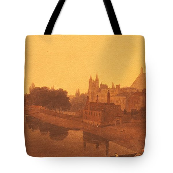 Westminster Abbey  Tote Bag by Peter de Wint