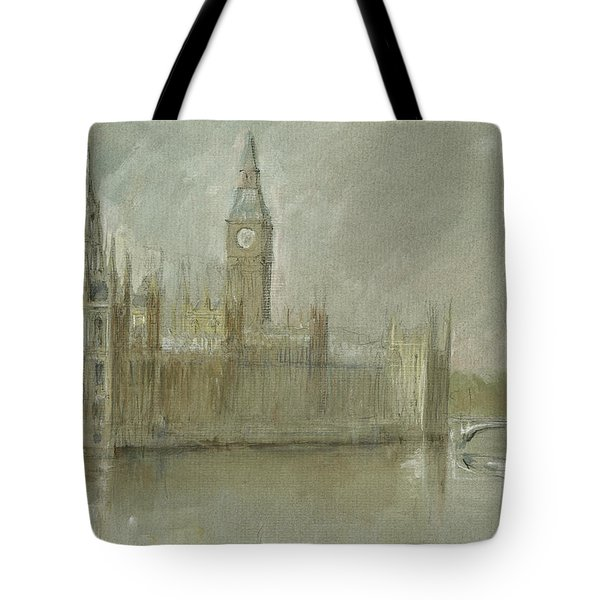 Westminster Palace And Big Ben London Tote Bag by Juan Bosco