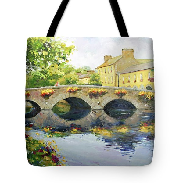 Westport Bridge County Mayo Tote Bag by Conor McGuire