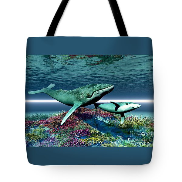Whale Song Tote Bag by Corey Ford