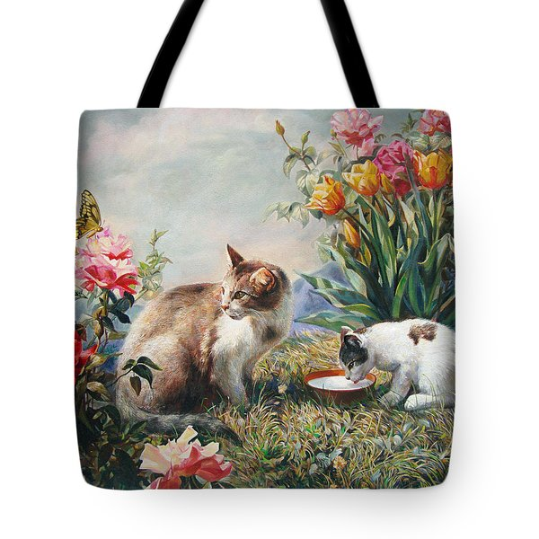 What a Girl Kitten Wants Tote Bag by Svitozar Nenyuk