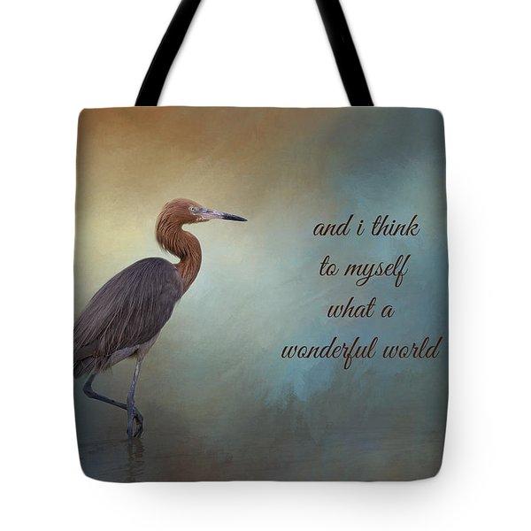 What A Wonderful World Tote Bag by Kim Hojnacki