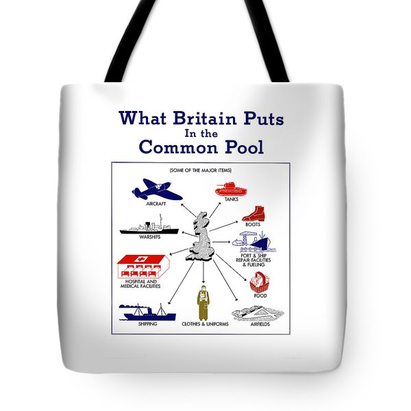 What Britain Puts In The Common Pool Tote Bag by War Is Hell Store