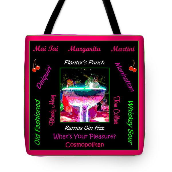 What's Your Pleasure Tote Bag by Marian Bell