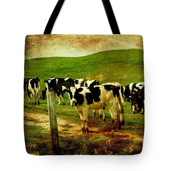 When The Cows Come Home . Photoart Tote Bag by Wingsdomain Art and Photography
