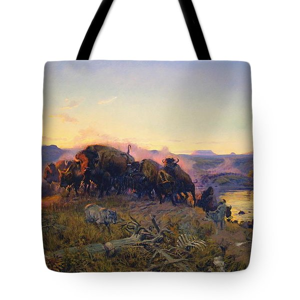 When The Land Belonged To God Tote Bag by Charles Russell