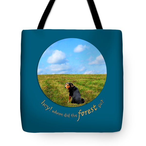 Where Did The Forest Go Tote Bag by Christina Rollo
