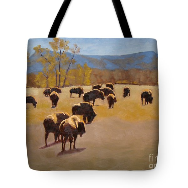 Where The Buffalo Roam Tote Bag by Tate Hamilton
