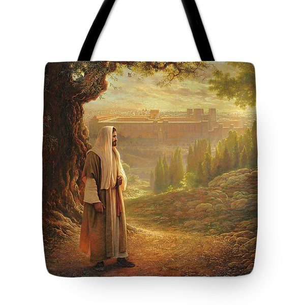 Wherever He Leads Me Tote Bag by Greg Olsen