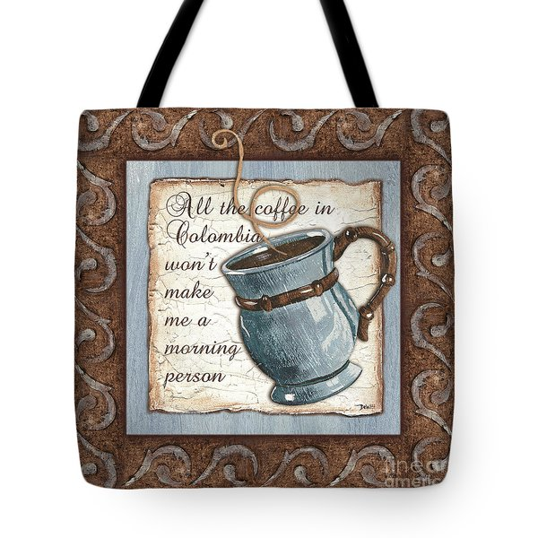 Whimsical Coffee 1 Tote Bag by Debbie DeWitt