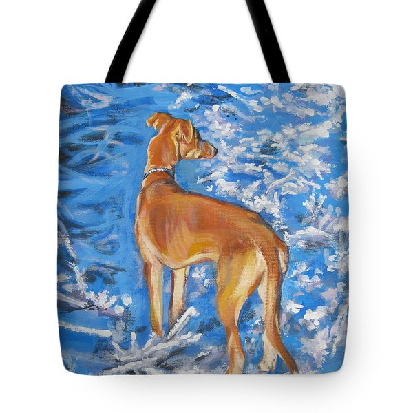 Whippet Tote Bag by Lee Ann Shepard