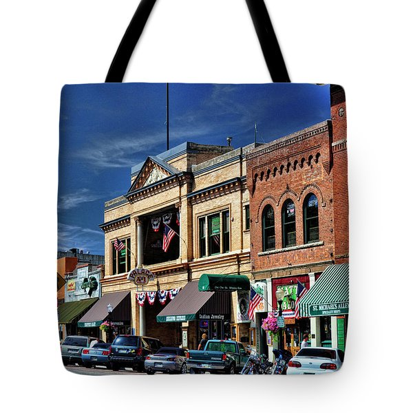 Whiskey Row - Prescott  Tote Bag by Saija  Lehtonen