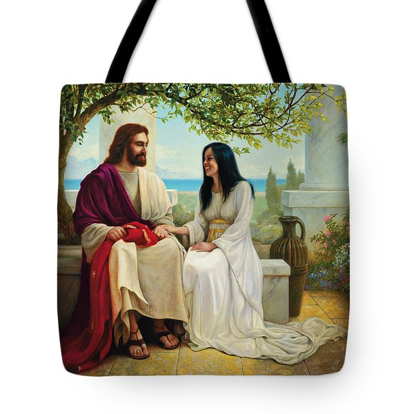 White as Snow Tote Bag by Greg Olsen