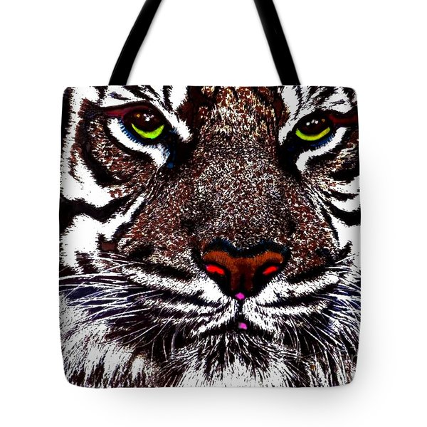 White Bengal Tote Bag by Wbk