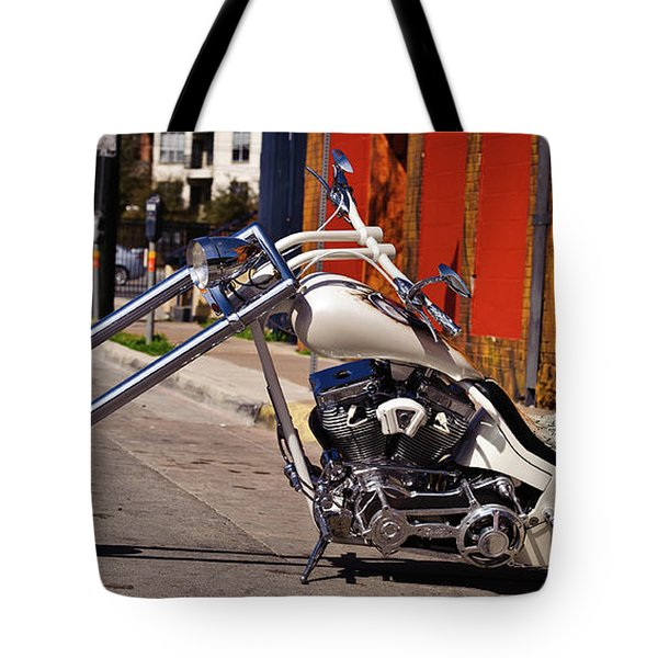 White Cobra Tote Bag by Charles Dobbs
