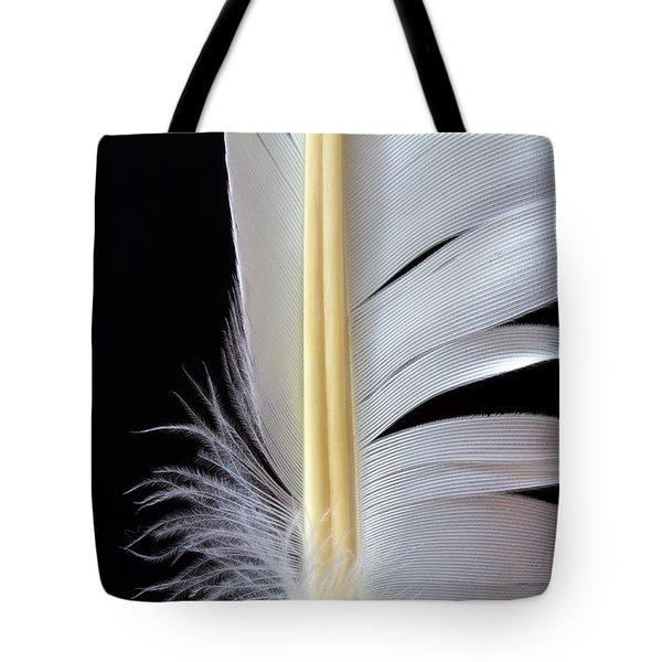 White Feather Tote Bag by Bob Orsillo