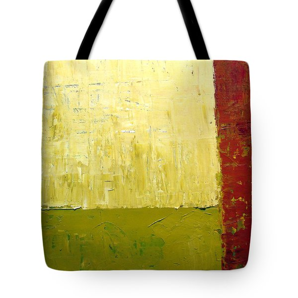 White Green And Red Tote Bag by Michelle Calkins