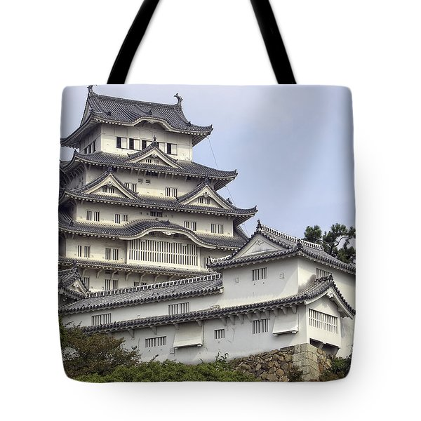 White Heron Castle - Himeji City Japan Tote Bag by Daniel Hagerman