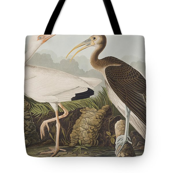 White Ibis Tote Bag by John James Audubon