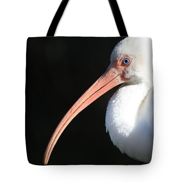 White Ibis Profile Tote Bag by Carol Groenen