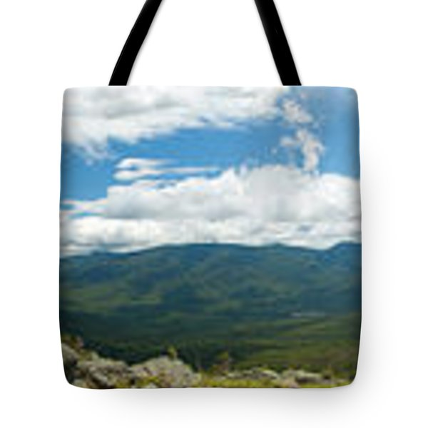 White Mountains Pano Tote Bag by Sebastian Musial