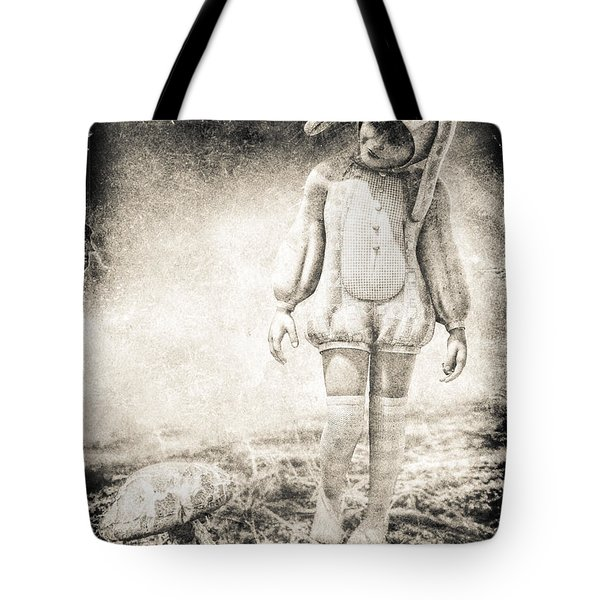 White Rabbit Tote Bag by Bob Orsillo