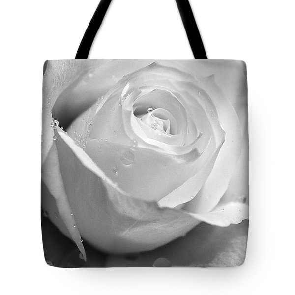 White Rose Tote Bag by Brian Roscorla