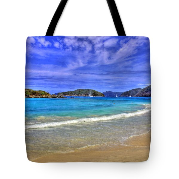 White Sands Beach Tote Bag by Scott Mahon