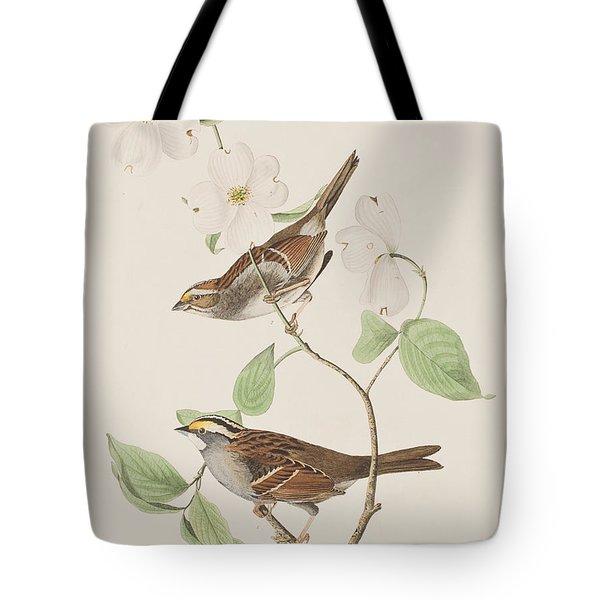 White Throated Sparrow Tote Bag by John James Audubon