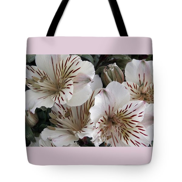 White Tiger Azalea Tote Bag by Ben and Raisa Gertsberg