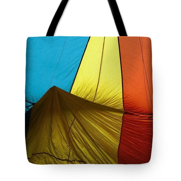 Who landed this balloon on me Tote Bag by Mike  Dawson